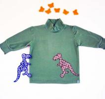 Frühlingsgrünes T-Shirt mit Dinosaurier